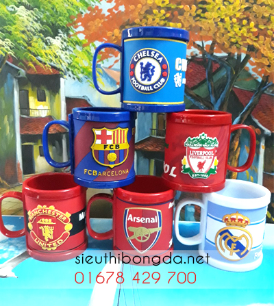 Cốc nhựa Manchester United, arsenal, chelsea, Barca, Liverpool